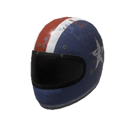 Patriotic Motorcycle Helmet